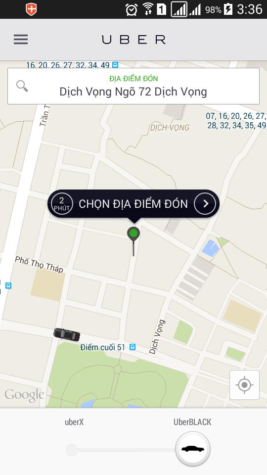phần mềm uber